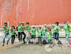 使者团成员抵达北京 第一站故宫