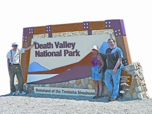 加州死亡谷国家公园牌子。