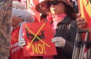 冲绳民众抗议驻日美军部署鱼鹰