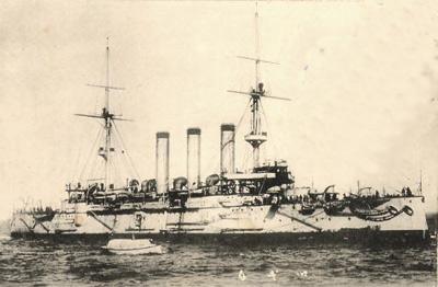 旧日本海军出云号装甲巡洋舰