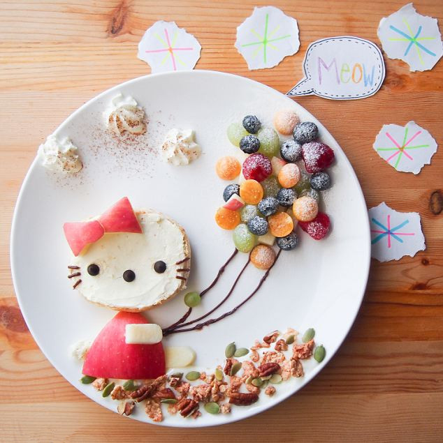 """马来西亚妈妈为女儿做""""童话餐"""""""