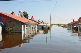 黑龙江省嘉荫县遭受洪水侵袭 多个村庄被淹没