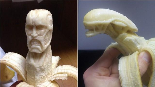 香蕉雕刻图片步骤图解