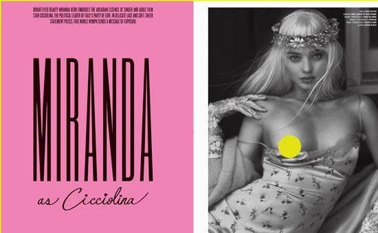 米兰达·可儿为杂志拍照图片