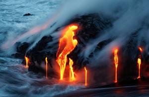 风光摄影:基拉韦厄火山之舞