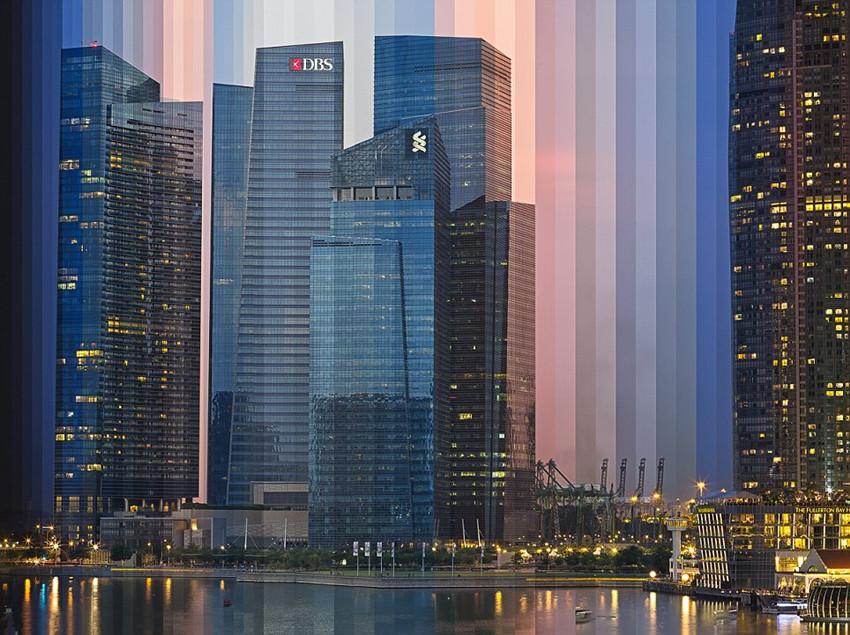 新加坡艺术家拼接图像展飞逝时光