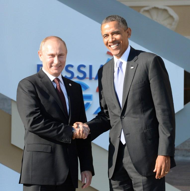 G20峰会普京欢迎奥巴马 两人亲切握手后暗自