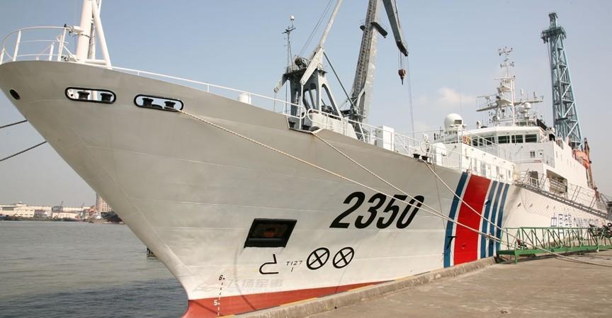 中国海警原军用船领衔编队再赴钓鱼岛海域巡航