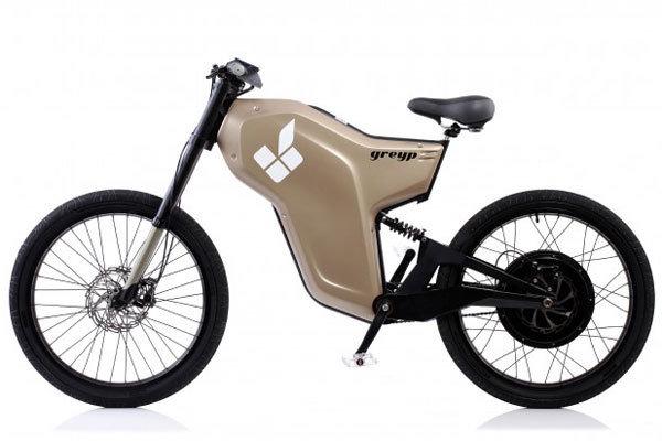 靠指纹驱动的未来派电动自行车