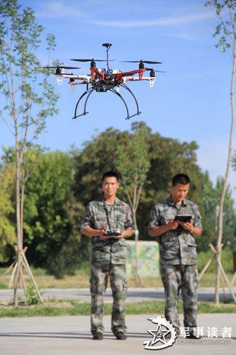 中国新疆边防部队列装新型六旋翼无人机(图)