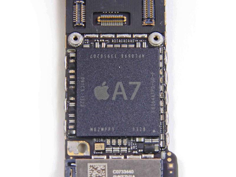 苹果5s无线电路板示意图