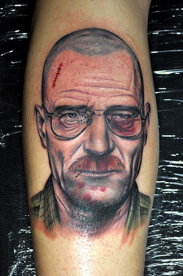 极具冲击力的逼真人像纹身:绝命
