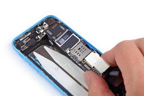 苹果iphone 5c拆解 电池容量小于5s
