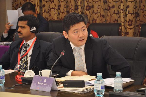 人民日报社国际部记者王磊在论坛中发言