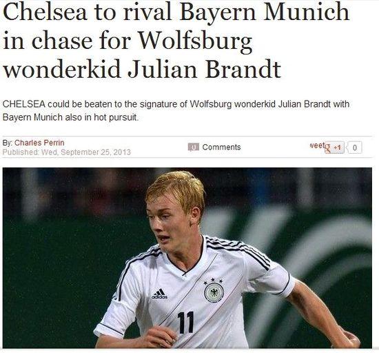 切尔西或再从德甲挖宝 PK拜仁多特抢德国U19新星