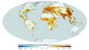 NASA绘制全球空气污染地图:亚欧污染最严重