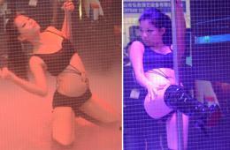 上海某展会惊现铁笼钢管舞 性感火辣难度高