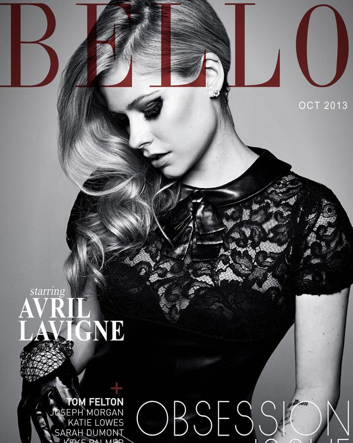 艾薇儿登杂志封面尽显优雅范