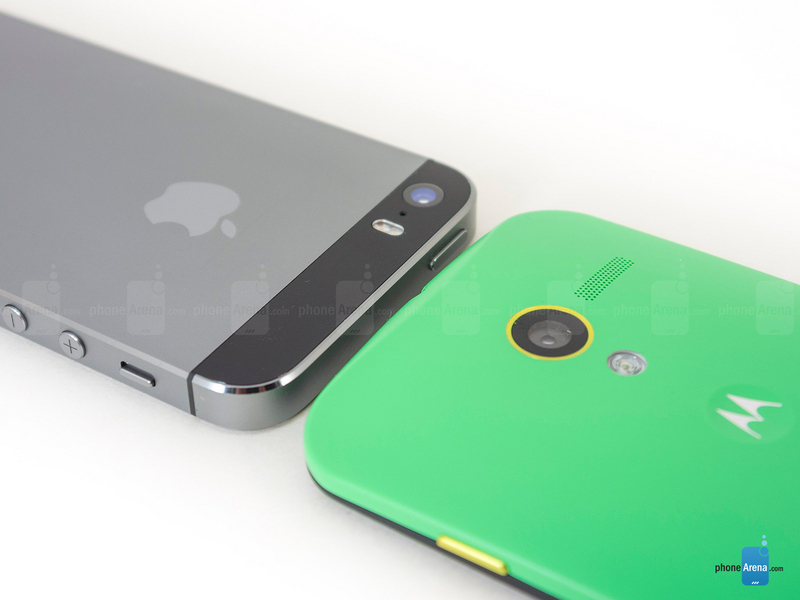 苹果/苹果iPhone 5s对比摩托罗拉MOTO X图赏(13/15)