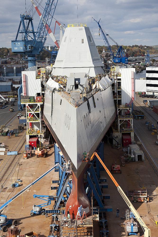 美耗资70亿美元建造DDG-10001.5万吨驱逐舰等待下水【组图】 - 春华秋实 - 开心快乐每一天--春华秋实