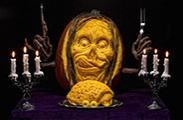 万圣节 美国大师雕刻的惊悚南瓜