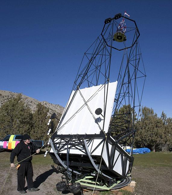 最大 世界/美司机18个月造世界最大望远镜(1/7)