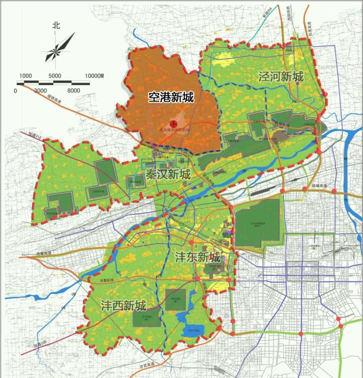 空港新城区位图-西咸新区空港新城 复兴丝路经济的快速通道