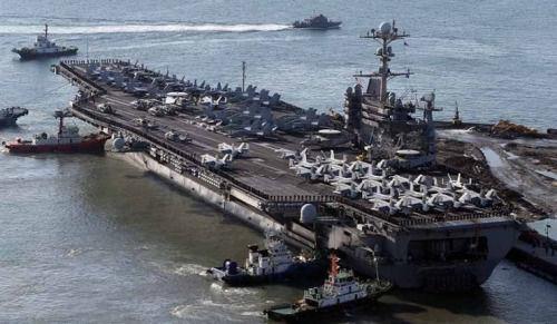 美航母在中国近海秀肌肉 舰队司令称未来增兵