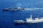 我054A舰参加中乌海军首次演习