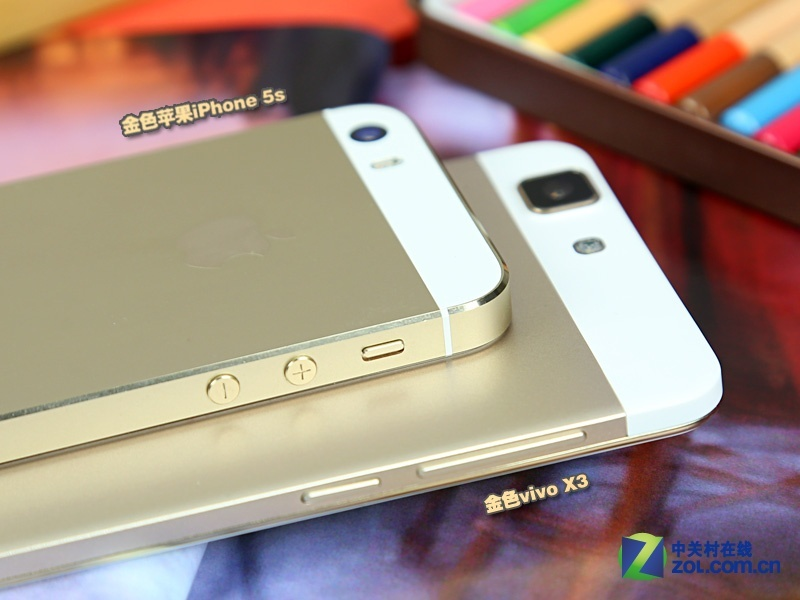 安卓/香槟金正流行vivo X3对比苹果iPhone 5s(9/13)