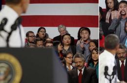 """奥巴马演讲遭打断 韩国男子大喊""""请帮帮我吧!"""""""