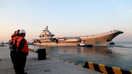 外媒:不排除辽宁舰南下时路过钓鱼岛和冲绳