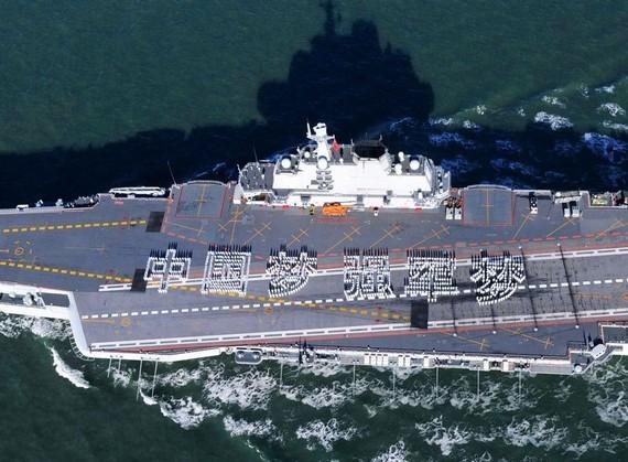 外媒:辽宁舰燃起南海火药味 对美日武力示威