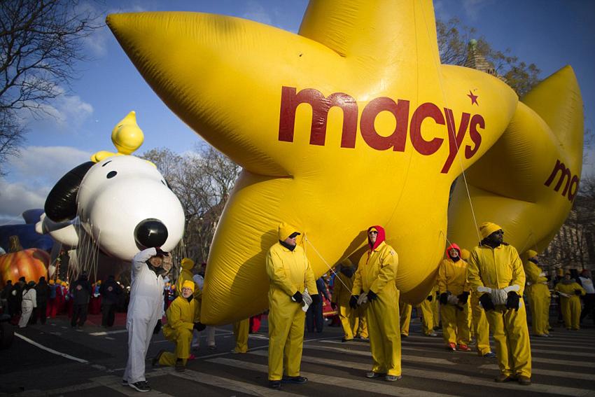 卡通 感恩节/纽约巨型卡通气球亮相感恩节游行(3/27)