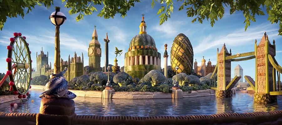 艺术家用食材打造梦幻美景.图_艺术家用各色食材打造梦幻美景 如置身童话世界_博览_环球网