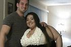 420斤女子找到帅气男友 被称励志姐