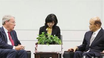 """苏贞昌声称""""亚太民主国家应合作化解区域紧张"""""""