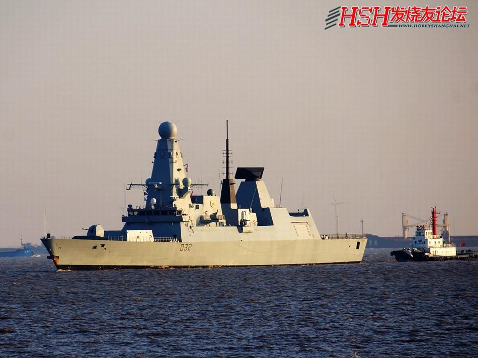 英军45型驱逐舰勇敢号首访上海