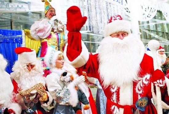 """圣诞祝福_俄罗斯传统圣诞将至 本土""""圣诞老人""""送祝福_国际新闻_环球网"""