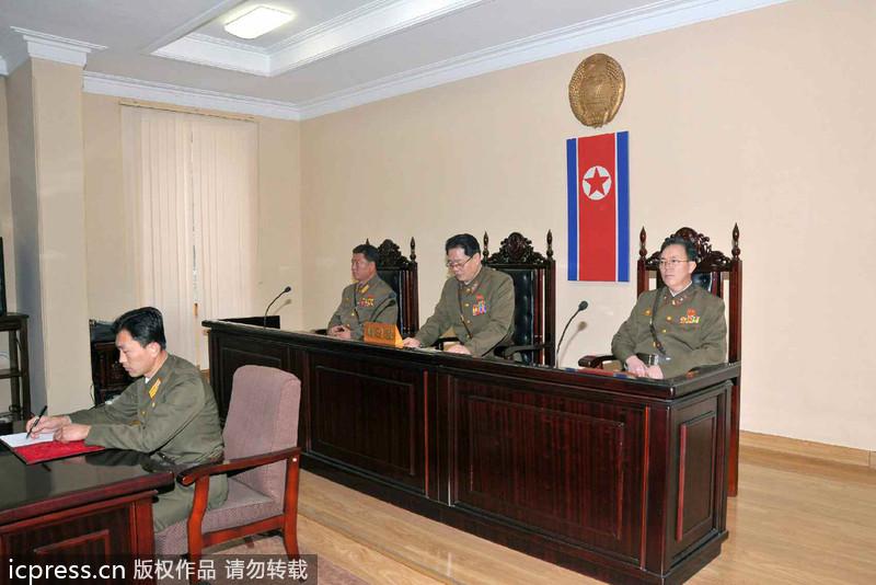 朝鲜判处张成泽死刑并立即执行 法庭现场图曝