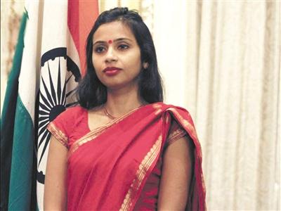 印度受辱女外交官将被调往印驻联合国代表处