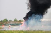 东海舰队某机场突然浓烟滚滚