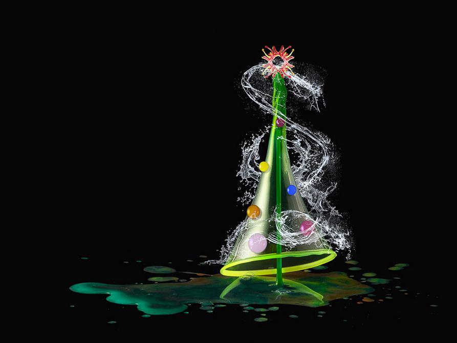 观念摄影:水滴圣诞