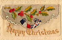 百年前的奢侈:精美刺绣圣诞卡