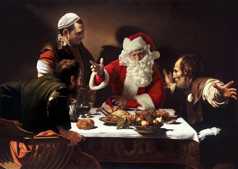 观念摄影:圣诞老人的穿越之旅