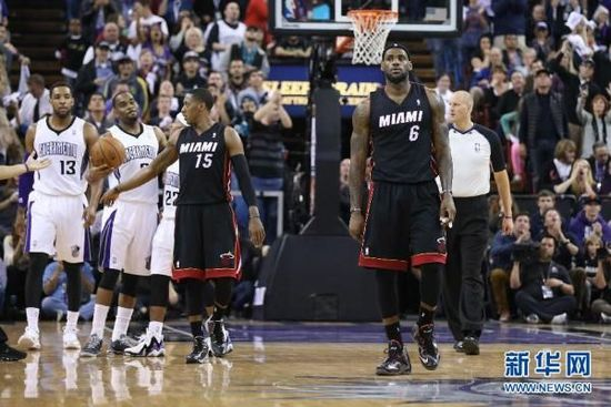 NBA 热火负国王图片