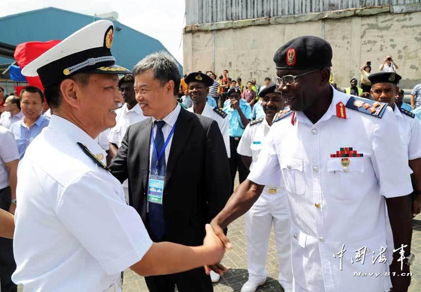 海军071型坞登舰访问坦桑尼亚