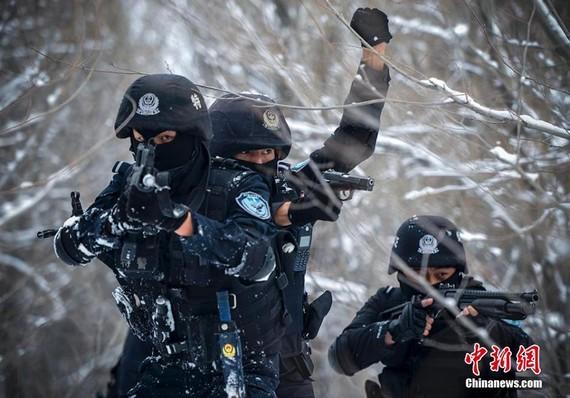 为新疆干警喊声赞 暴恐分子露头一个歼灭一个