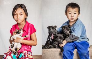 纪实摄影:老挝人和他们的宠物