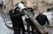 叙反对派用水管造煤气罐迫击炮
